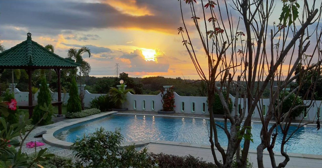 bali villa with pool & view for sale